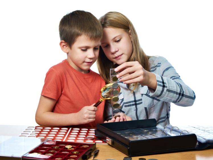 møntsamling for børn